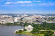 canvas print picture - Washington DC aerial Thomas Jefferson Memorial