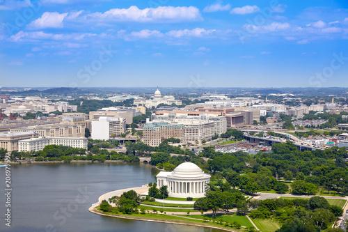 Fotografía  Washington DC aerial Thomas Jefferson Memorial