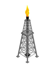 Gas Tower Isometric . Industri...
