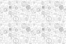 Vector Fintech Pattern. Fintech Seamless Background