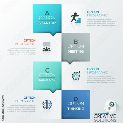 Fotografía Creative infographic design template
