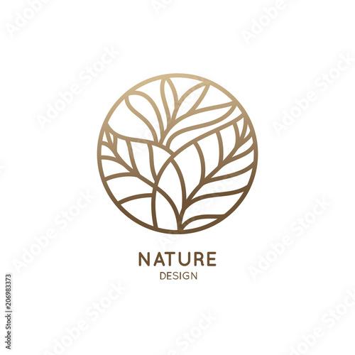 Naklejka premium Logo roślin tropikalnych