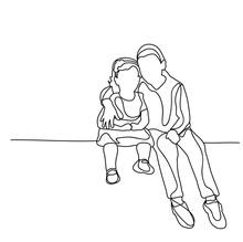 Sketch People Sit
