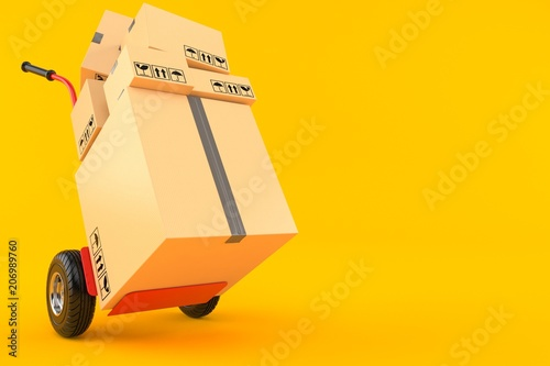 Fotomural  Hand truck with packages