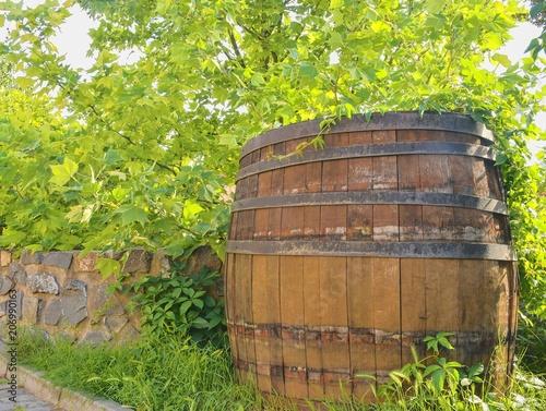 Fotografía Old rustic wine barrel