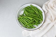 Freshly Picked Green Beans In ...