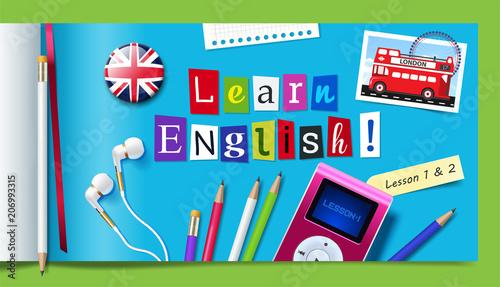 Obraz na plátně  Concept of English language courses