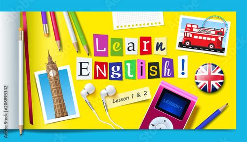 Fotografie, Obraz  Concept of English language courses