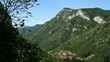 Romanian panoramic mountainscape.