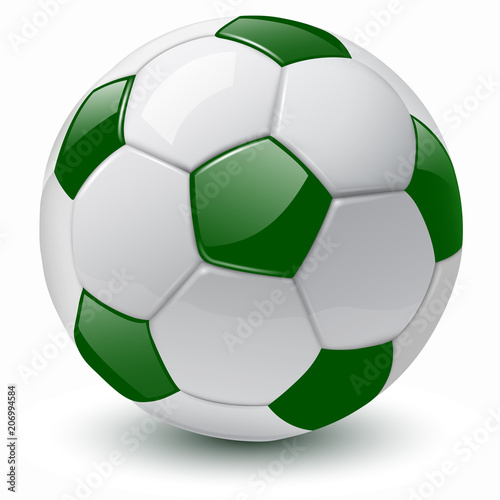 soccer ball 3D vector illustration