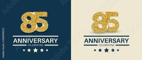 Fotografia  85th Anniversary celebrating cards template. Vector illustration.
