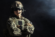 Special Forces Soldier With Ri...