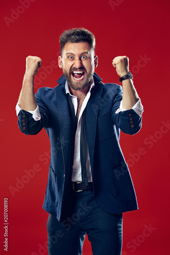 Fotografía  Winning success man happy ecstatic celebrating being a winner