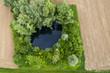 Teich aus der Vogelperspektive