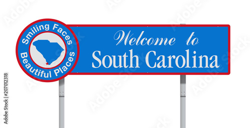 Welcome to South Carolina road sign Fototapete