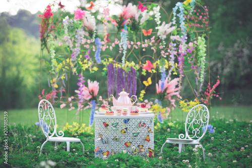 Fotografie, Obraz  Tea Party in the Garden