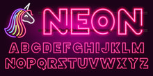 80 S Purple Neon Retro Font An...