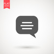 Speech bubble icon. Chat Flat vector. Comment icon. ON white background.