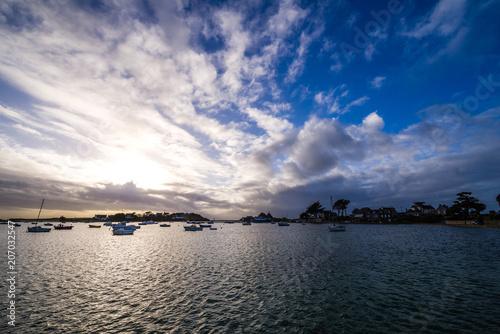 In de dag Poort Coucher de soleil en mer d'Iroise
