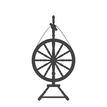 An Antique Spinning Wheel Icon...
