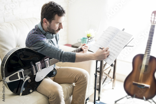 Song composer at home studio - 207036734