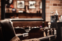 Barbershop Chair And Blurred B...