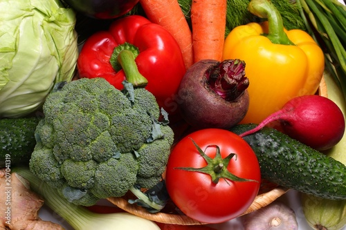 Fototapety, obrazy: Varied vegetables in close-up