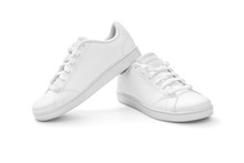 Full White Sneakers On White B...