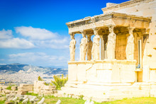 Erechtheion Temple In Acropolis Of Athens