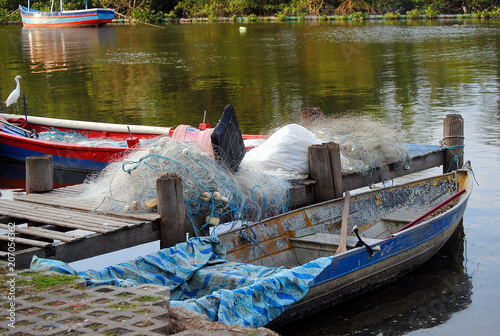 Fotografie, Obraz  barco de pescador