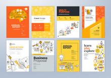 Set Of Brochure Design Templat...