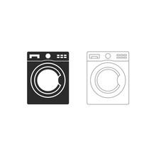 Line&black Washer Vector Icon.
