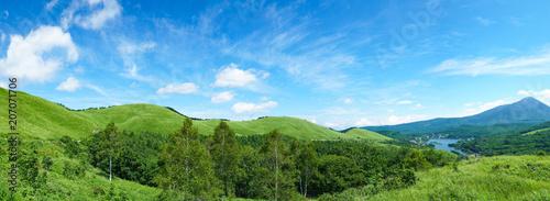 Foto auf Gartenposter Blau 霧ヶ峰・白樺湖