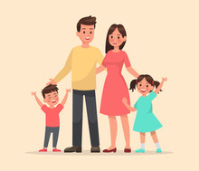 Family Character Vector Design Set 9
