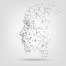 Human Face, Polygonal Mesh, Te...