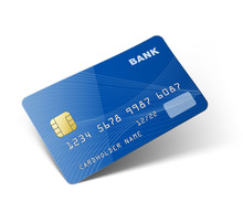 Credit Card Isolated On White ...