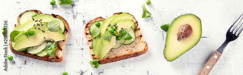 Healthy avocado toasts