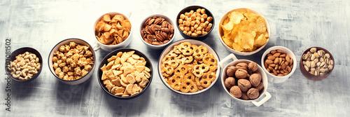 Different kids of snacks Fototapeta