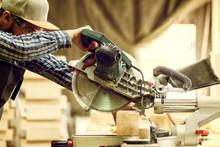 Close Up A Carpenter In Work C...
