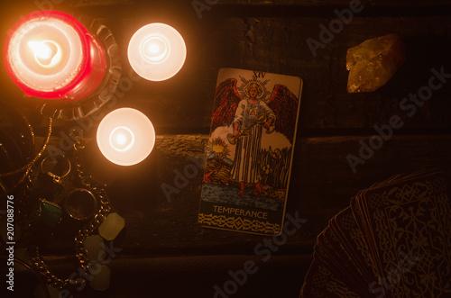 Temperance Tarot card  Fortune teller  - Buy this stock
