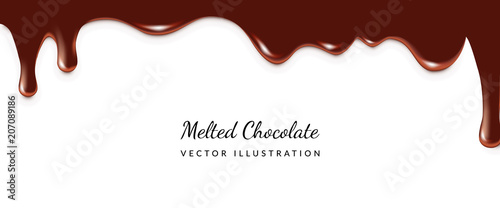 Canvas Print Dripping Melted Chocolate