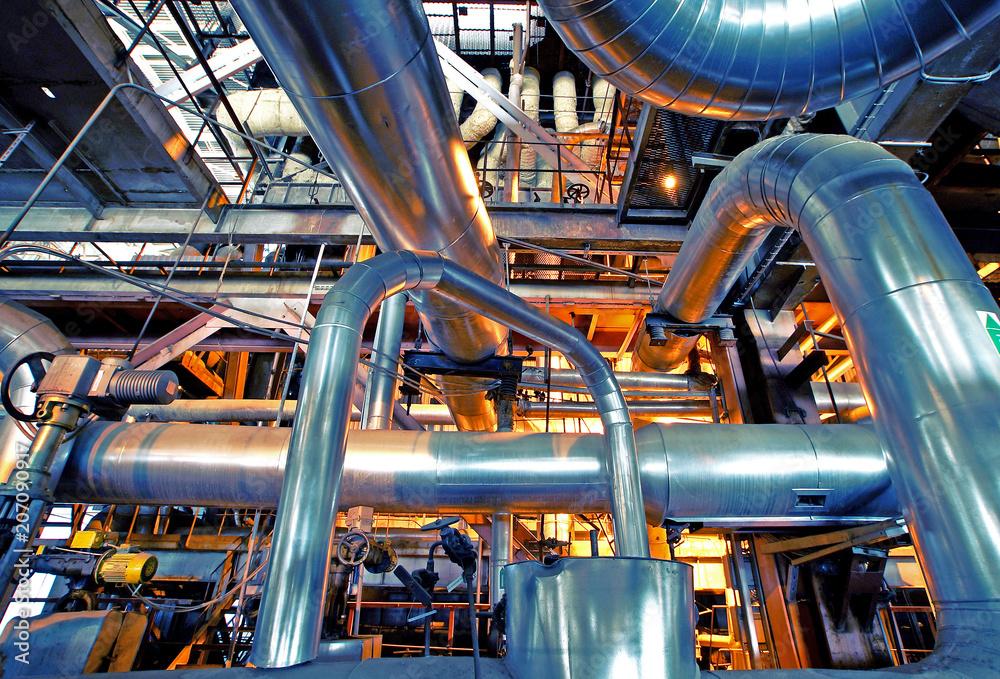 Industrial zone, Steel pipelines and equipment w salonie