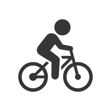 Man On Bicycle Icon