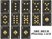 Playing Cards Spade Suit. Poker Cards Original Design Art Deco Style. Vector Illustration