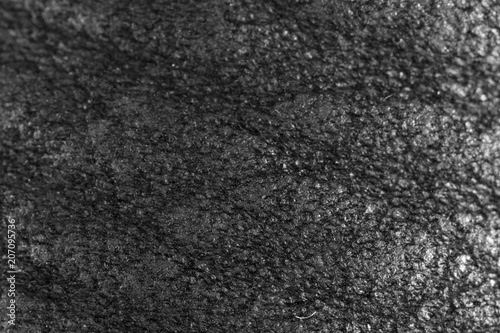 Tuinposter Stenen Black leather material as an abstract background