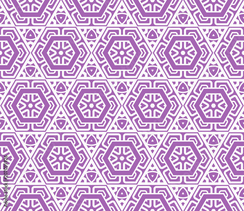 Photo Stands Psychedelic Seamless decorative geometric modern pattern. vector illustration.