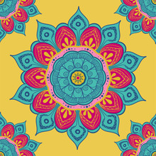 Flower Mandala Colorful Backgr...