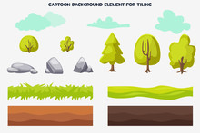 Vector Cartoon Background Element For Tiling