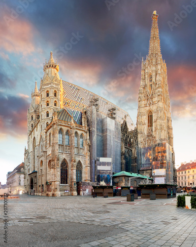 Staande foto Wenen Vienna - St. Stephan cathedral, Austria, Wien