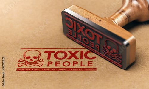 Fotografie, Obraz Toxic People or Relationship, Manipulative Person Concept